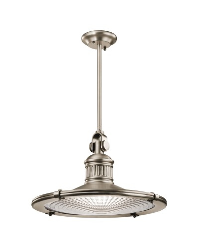 Elstead Lighting Kichler Sayre 1 Light Extra Large Pendant In Antique Pewter Finish With Height Adjustable Rods