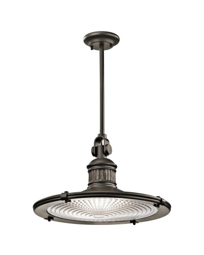 Elstead Lighting Kichler Sayre 1 Light Extra Large Pendant In Olde Bronze Finish With Height Adjustable Rods