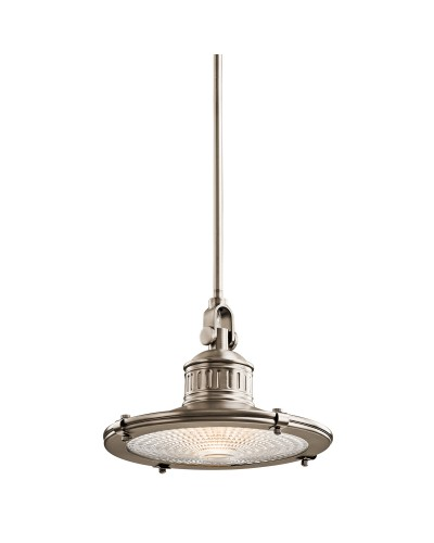 Elstead lighting kichler sayre 1 light medium pendant in antique pewter finish with height adjustable rods