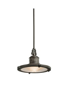 Elstead Lighting Kichler Sayre 1 Light Medium Pendant In Olde Bronze Finish With Height Adjustable Rods