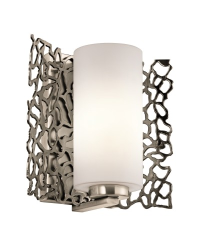Elstead Lighting Kichler Silver Coral 1 Light Wall Light In Classic Pewter Finish