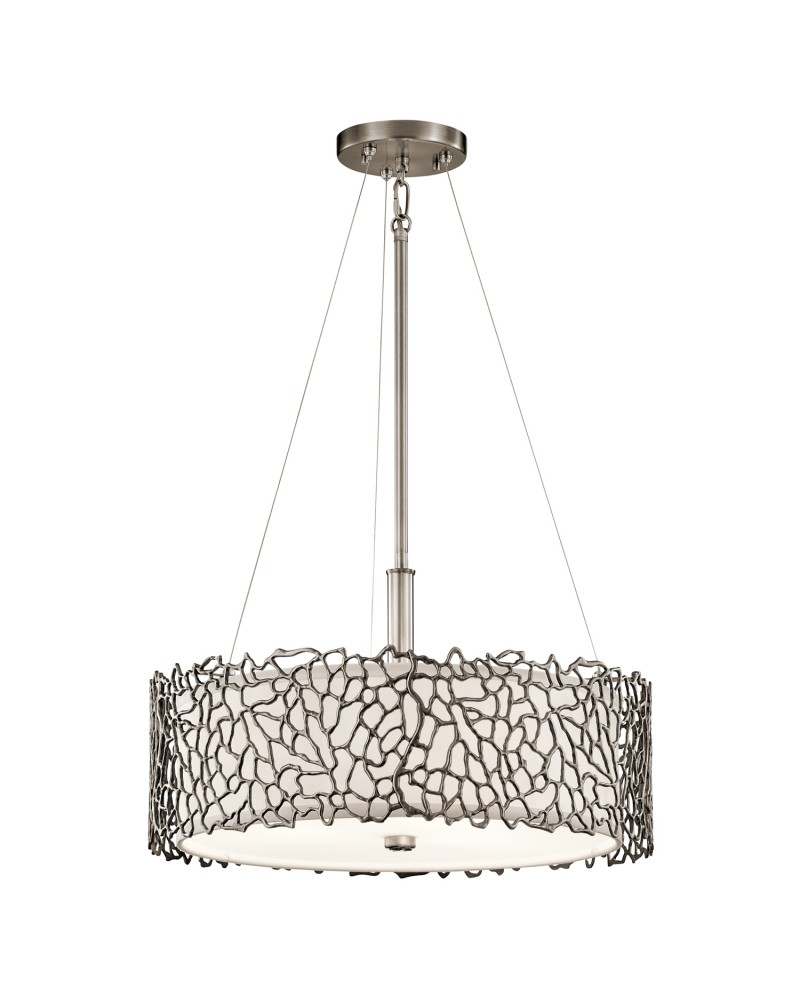 Elstead Lighting Kichler Silver Coral 3 Light Duo-Mount
