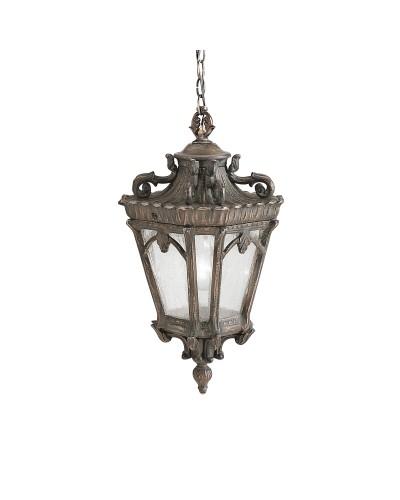 Elstead Lighting Kichler Tournai 1 Light Outdoor Medium Chain Lantern In Londonderry Finish