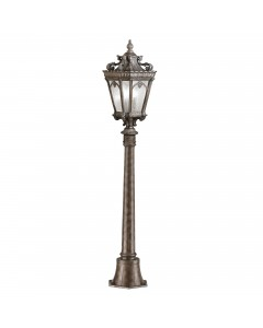 Elstead Lighting Kichler Tournai 1 Light Outdoor Medium Pillar In Londonderry Finish