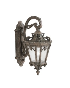 Elstead Lighting Kichler Tournai 1 Light Outdoor Medium Wall Lantern In Londonderry Finish