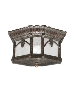 Elstead Lighting Kichler Tournai 2 Light Outdoor Flush Ceiling Mount In Londonderry Finish