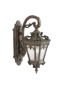 Elstead Lighting Kichler Tournai 2 Light Outdoor Large Wall Lantern In Londonderry Finish
