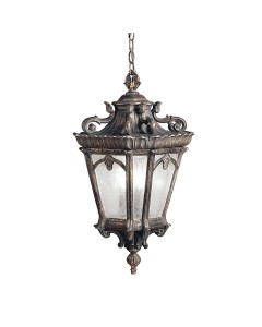 Elstead Lighting Kichler Tournai 3 Light Outdoor Extra Large Chain Lantern In Londonderry Finish
