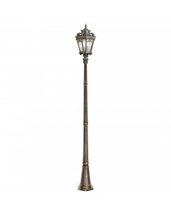 Elstead Lighting Kichler Tournai 3 Light Outdoor Extra Large Lamp Post In Londonderry Finish