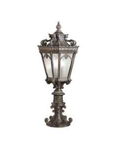 Elstead Lighting Kichler Tournai 3 Light Outdoor Large Pedestal In Londonderry Finish