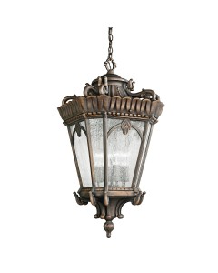 Elstead Lighting Kichler Tournai 4 Light Outdoor Grand Extra Large Chain Lantern In Londonderry Finish