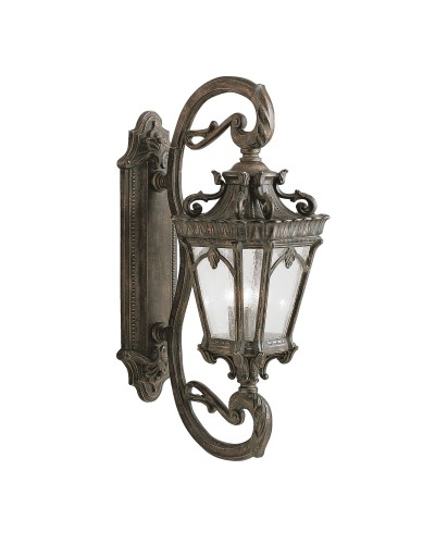 Elstead Lighting Kichler Tournai 4 Light Outdoor Grand Wall Lantern In Londonderry Finish
