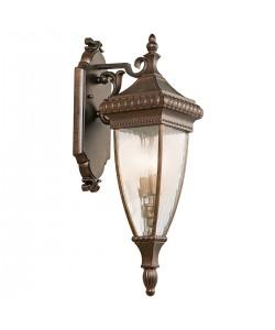 Elstead Lighting Kichler Venetian Rain 2 Light Outdoor Medium Wall Lantern In Brushed Bronze Finish