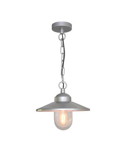 Elstead Lighting Klampenborg 1 Light Outdoor Chain Lantern In Metallic Silver Finish