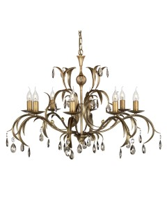 Elstead Lighting Lily 8 Light Duo Mount Chandelier In A Hand Patinated Metallic Bronze Finish
