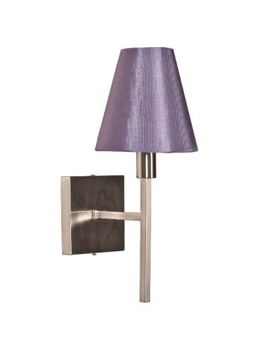 Elstead Lighting Lucerne 1 Light Wall Light In Brushed Nickel Finish Complete With Manhattan Grape Shade