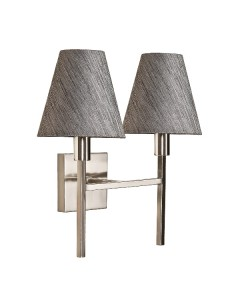 Elstead Lighting Lucerne 2 Light Wall Light In Brushed Nickel Finish Complete With Juniper Slate Shades