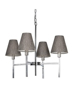 Elstead Lighting Lucerne 4 Light Chandelier In Brushed Nickel Finish Complete With Juniper Slate Shades