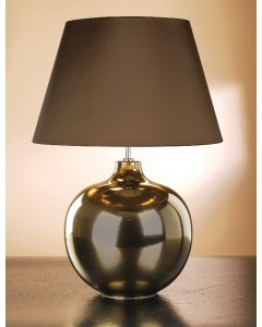 Lui's Collection - Ottoman Bronze Metallic Table Lamp Complete With Brown Shade With Gold Lining