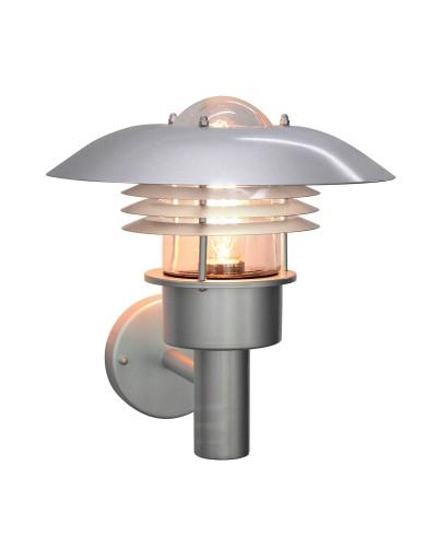 Elstead Lighting Malmo 1 Light Outdoor Wall Lantern In Metallic Silver Finish