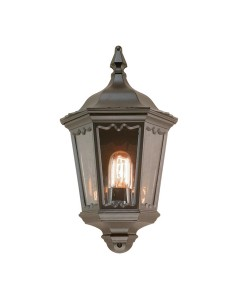 Elstead Lighting Medstead 1 Light Outdoor Half Wall Lantern In Black Finish (Without PIR Sensor)