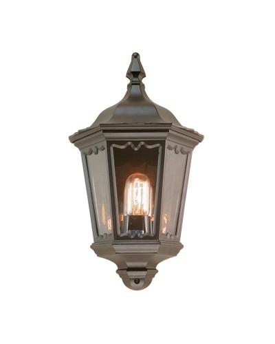 Elstead Lighting Medstead 1 Light Outdoor Half Wall Lantern In Black Finish (Without PIR Sensor)
