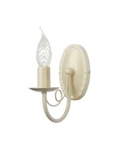 Elstead Lighting Minster 1 Light Wall Light In Ivory/ Gold Finish