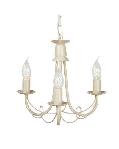 Elstead Lighting Minster 3 Light Duo Mount Chandelier In Ivory/ Gold Finish