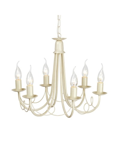 Elstead Lighting Minster 6 Light Duo Mount Chandelier In Ivory/Gold Finish