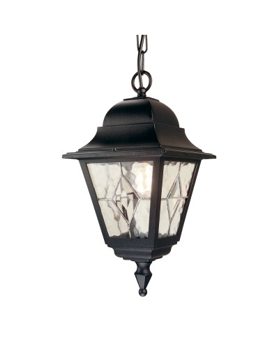 Elstead Lighting Norfolk 1 Light Outdoor Chain Lantern In Black Finish