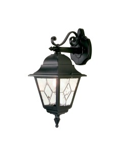 Elstead Lighting Norfolk 1 Light Outdoor Downward Wall Lantern In Black Finish