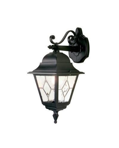 Elstead Lighting Norfolk 1 Light Outdoor Downward Wall Lantern In Black Finish