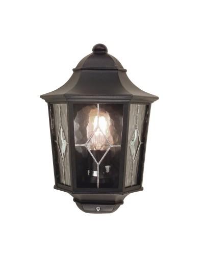 Elstead Lighting Norfolk 1 Light Outdoor Half Wall Lantern In Black Finish