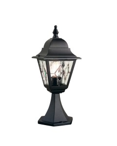 Elstead Lighting Norfolk 1 Light Outdoor Pedestal Lantern In Black Finish