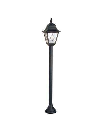 Elstead Lighting Norfolk 1 Light Outdoor Pillar Lantern In Black Finish