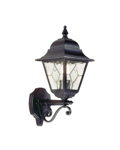 Elstead Lighting Norfolk 1 Light Outdoor Upward Wall Lantern In Black Finish