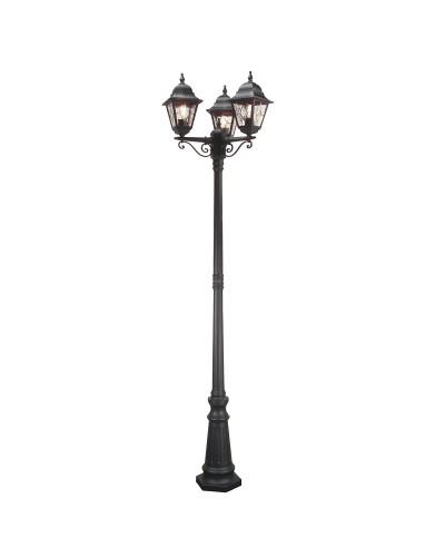 Elstead Lighting Norfolk 3 Light Outdoor Post Light In Black Finish