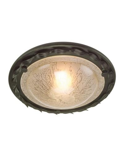 Elstead Lighting Olivia 1 Light Flush Mounted Ceiling Light In Black/Gold Finish
