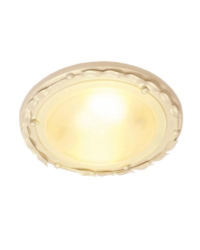 Elstead Lighting Olivia 1 Light Flush Mounted Ceiling Light In Ivory/Gold Finish
