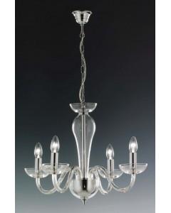 Elstead Lighting Oxford 24% Lead Crystal 4 Light Chandelier