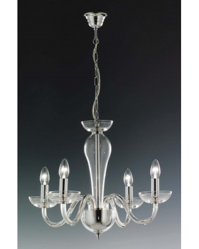 Elstead Lighting Oxford 24% Lead Crystal 4 Light Chandelier
