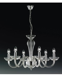 Elstead Lighting Oxford 24% Lead Crystal 6 Light Chandelier