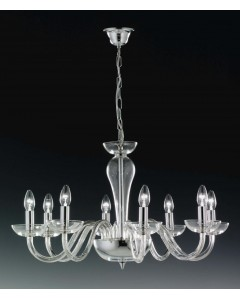 Elstead Lighting Oxford 24% Lead Crystal 8 Light Chandelier