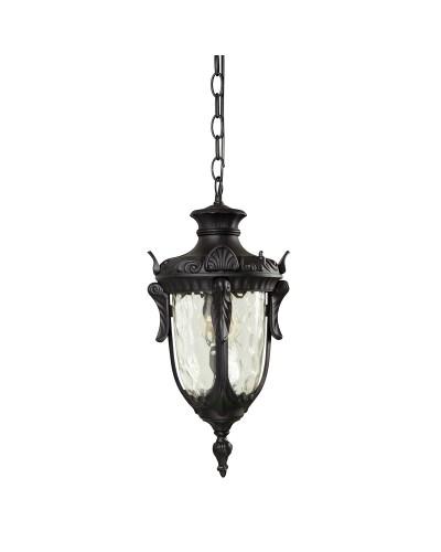 Elstead Lighting Philadelphia 1 Light Outdoor Medium Chain Lantern In Black Finish