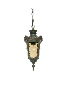 Elstead Lighting Philadelphia 1 Light Outdoor Medium Chain Lantern In Old Bronze Finish