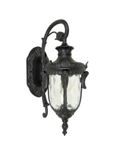 Elstead Lighting Philadelphia 1 Light Outdoor Medium Down Wall Lantern In Black Finish