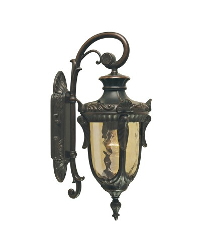 Elstead Lighting Philadelphia 1 Light Outdoor Medium Down Wall Lantern In Old Bronze Finish