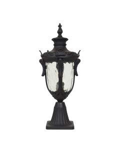 Elstead Lighting Philadelphia 1 Light Outdoor Medium Pedestal Lantern In Black Finish