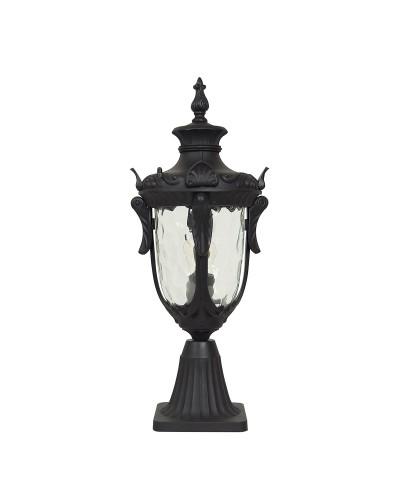 Elstead Lighting Philadelphia 1 Light Outdoor Medium Pedestal Lantern In Black Finish