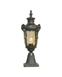 Elstead Lighting Philadelphia 1 Light Outdoor Medium Pedestal Lantern In Old Bronze Finish